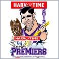 2012 NRL Premiers  Melbourne Storm (Harv Time Poster)