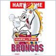 Brisbane Broncos Mascot (Harv Time Poster)