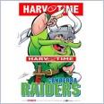 Canberra Raiders Mascot (Harv Time Poster)