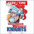 Newcastle Knights Mascot (Harv Time Poster)