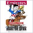 2005 Melbourne Cup Winner - Makybe Diva (Harv Time Poster)