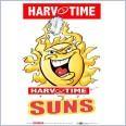 Gold Coast Suns Mascot (Harv Time Poster)