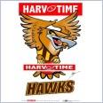 Hawthorn Hawks Mascot (Harv Time Poster)