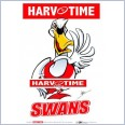 Sydney Swans Mascot (Harv Time Poster)
