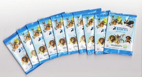 10x Woolworths Heroes DreamWorks Unopened Packs | Gimko